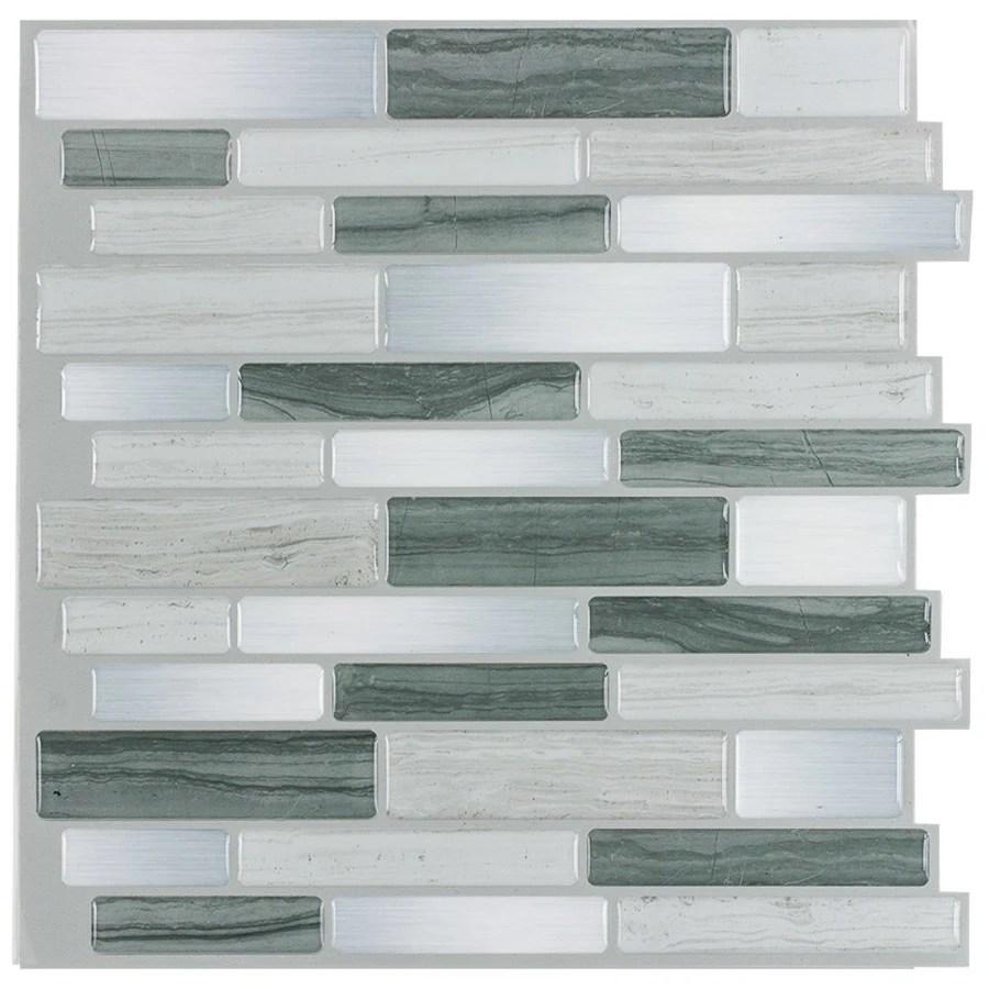 Shop PeelStick Mosaics Peel and Stick Mosaics Grey Mist