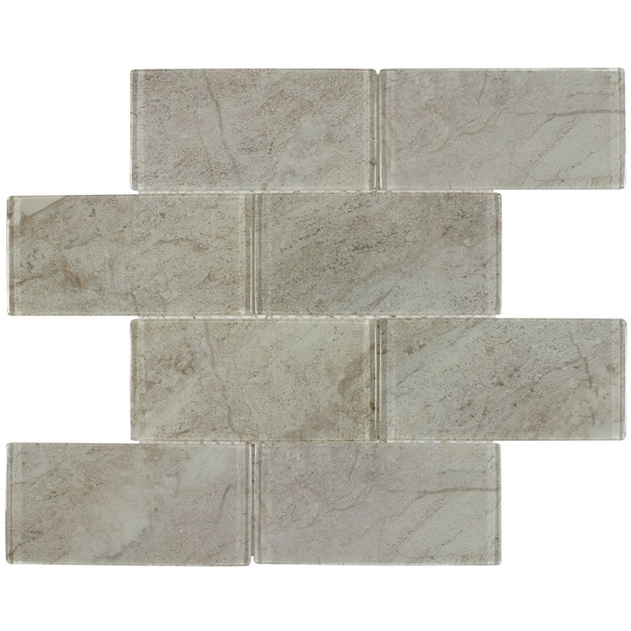elida ceramica glass marmol 12 in x 12 in glossy glass subway wall tile