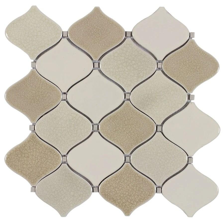 allen roth bellport natural 12 in x 12 in glazed porcelain lantern wall tile