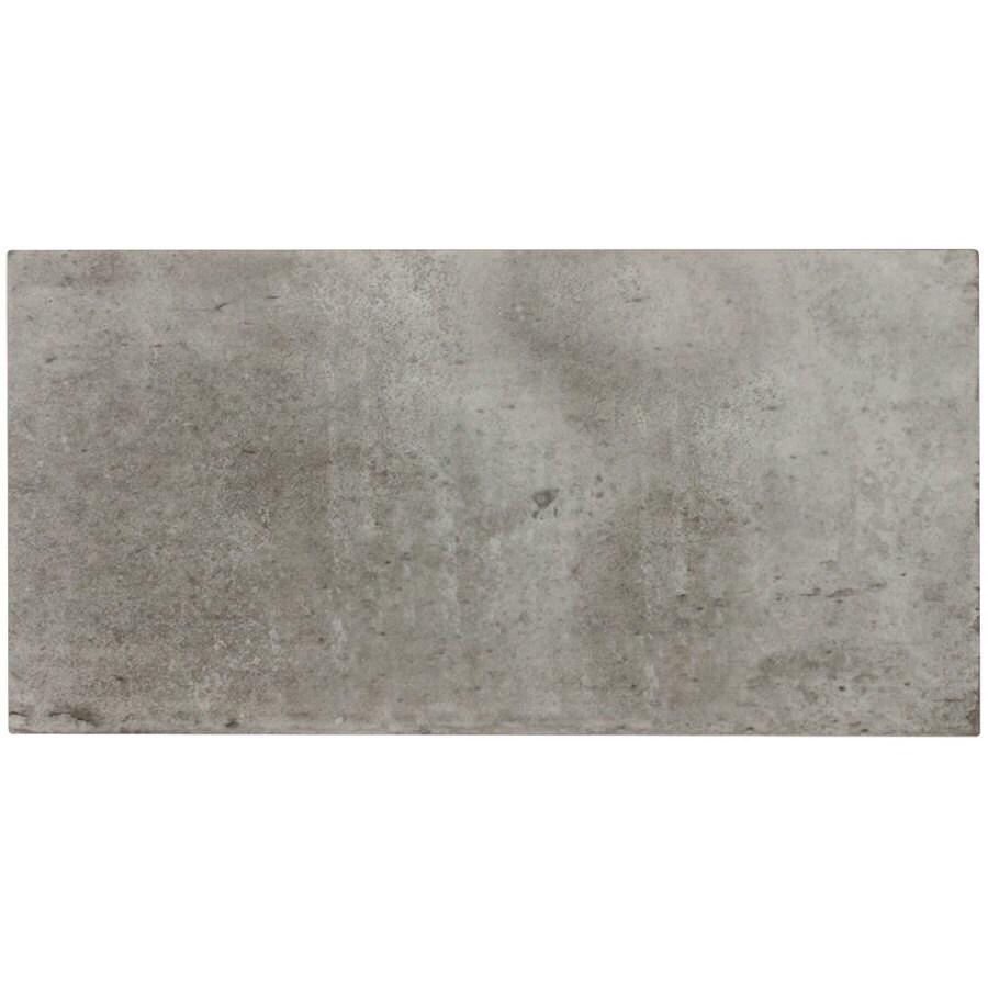 elida ceramica aged concrete 6 in x 12