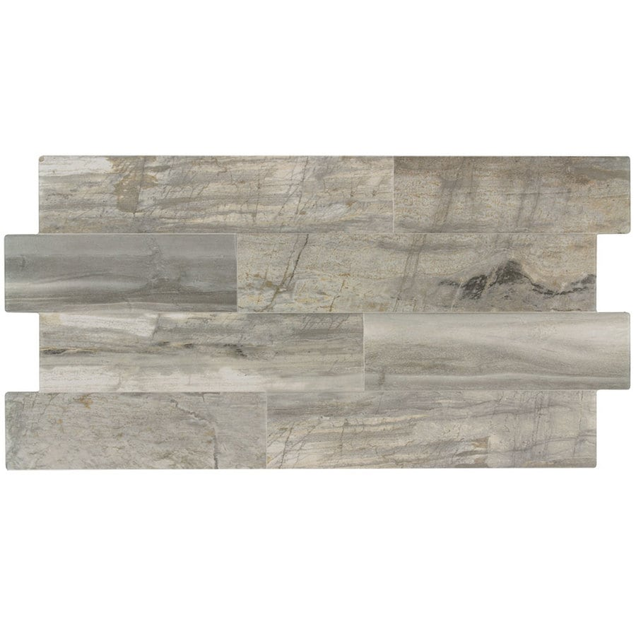 elida ceramica ledgewood stone 12 in x 24 in glazed porcelain linear wood look wall tile lowes com