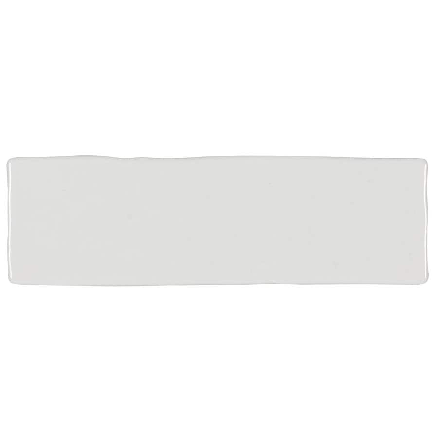 boutique ceramic hand crafted white 3 in x 8 in glazed ceramic brick subway wall tile lowes com