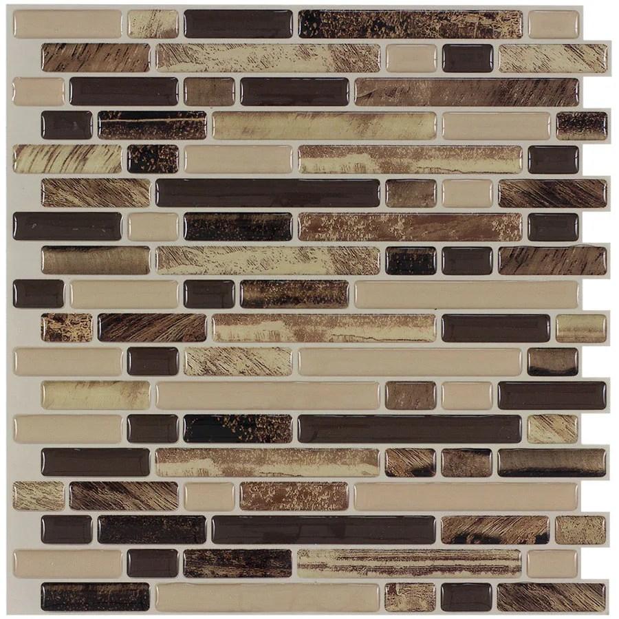 Shop Peel&stick Mosaics Rockbridge Linear Mosaic Composite
