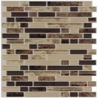 Shop Peel&Stick Mosaics ROCKBRIDGE Linear Mosaic Composite ...