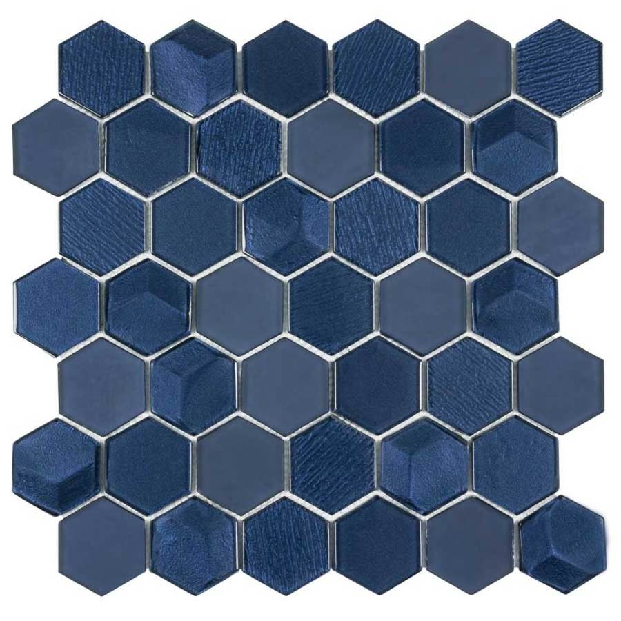elida ceramica skylight hex 12 in x 12 in glossy glass wall tile