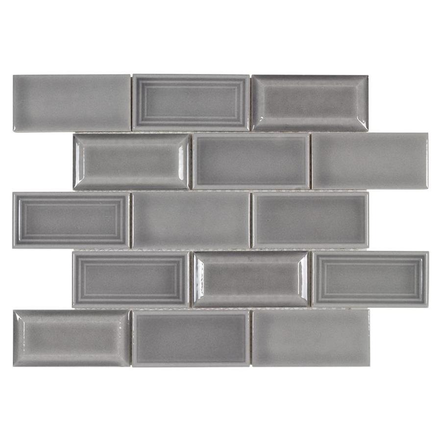 boutique ceramic boutique gray 11 in x 13 in glazed ceramic brick subway wall tile