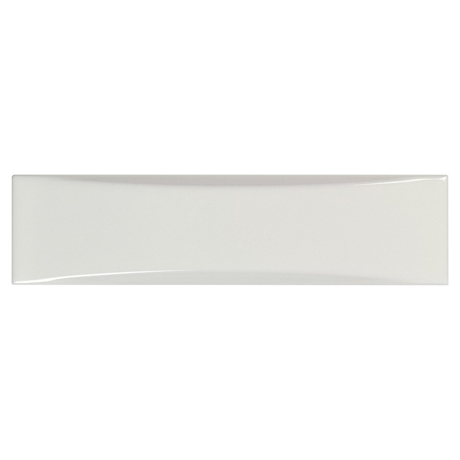 boutique ceramic boutique white 2 in x 8 in glazed ceramic subway wall tile lowes com