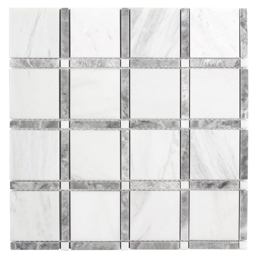 elida ceramica white 12 in x 12 in honed natural stone marble uniform squares floor and wall tile