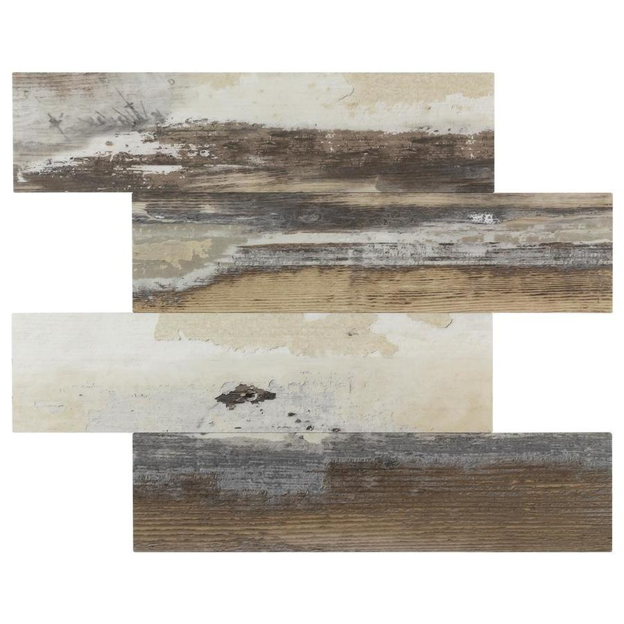 peel stick mosaics peel and stick french woods beige and brown 12 in x 15 in matte pvc random wood look peel and stick wall tile