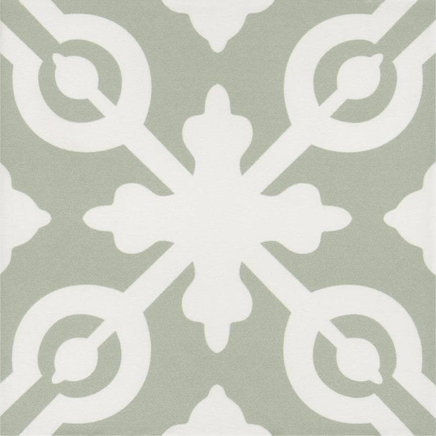 style selections modern pastel fairway deco 8 in x 8 in matte porcelain encaustic floor and wall tile