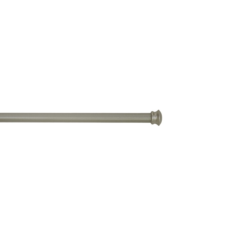 style selections 28 in to 84 in brushed nickel steel double curtain rod