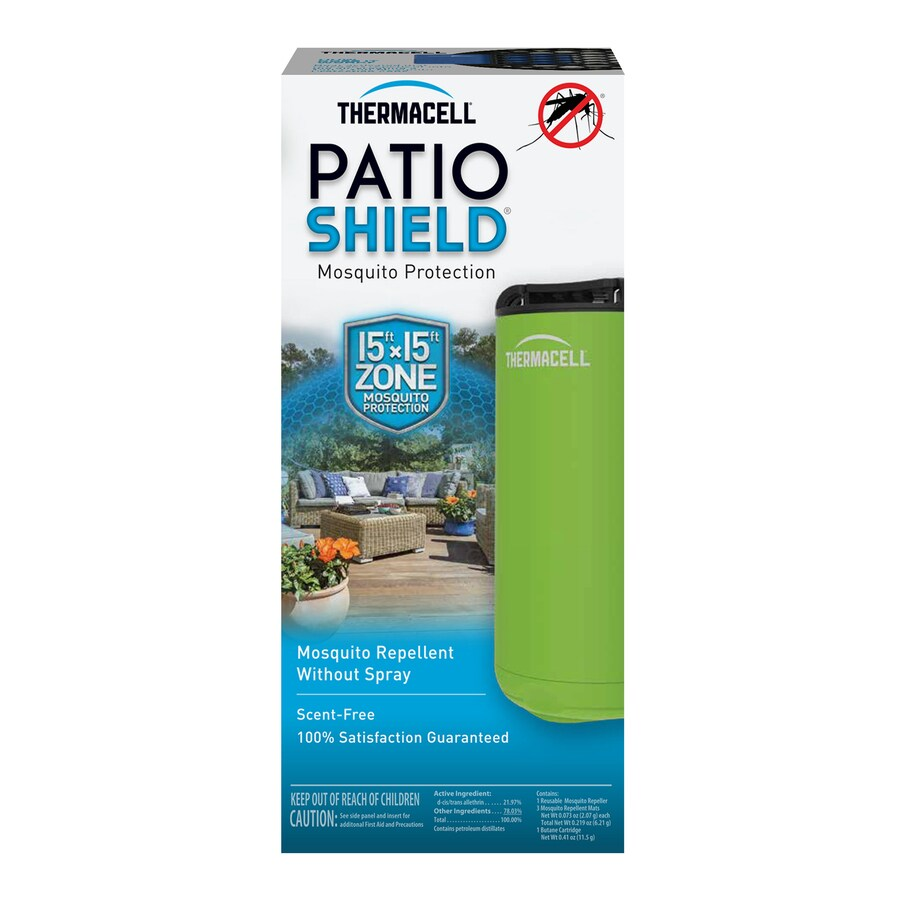 thermacell mini patio shield green all purpose outdoor device