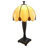 Shop Portfolio 21-in Dark Brass Tiffany-Style Indoor Table ...