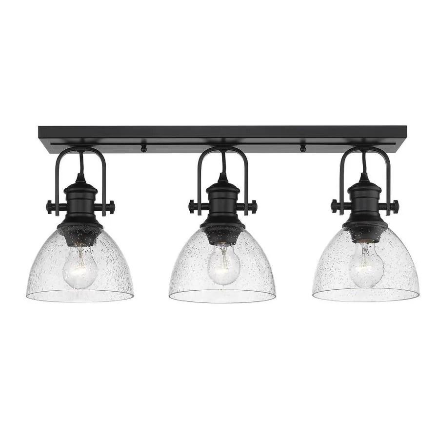golden lighting hines 8 25 in matte black transitional incandescent semi flush mount light lowes com