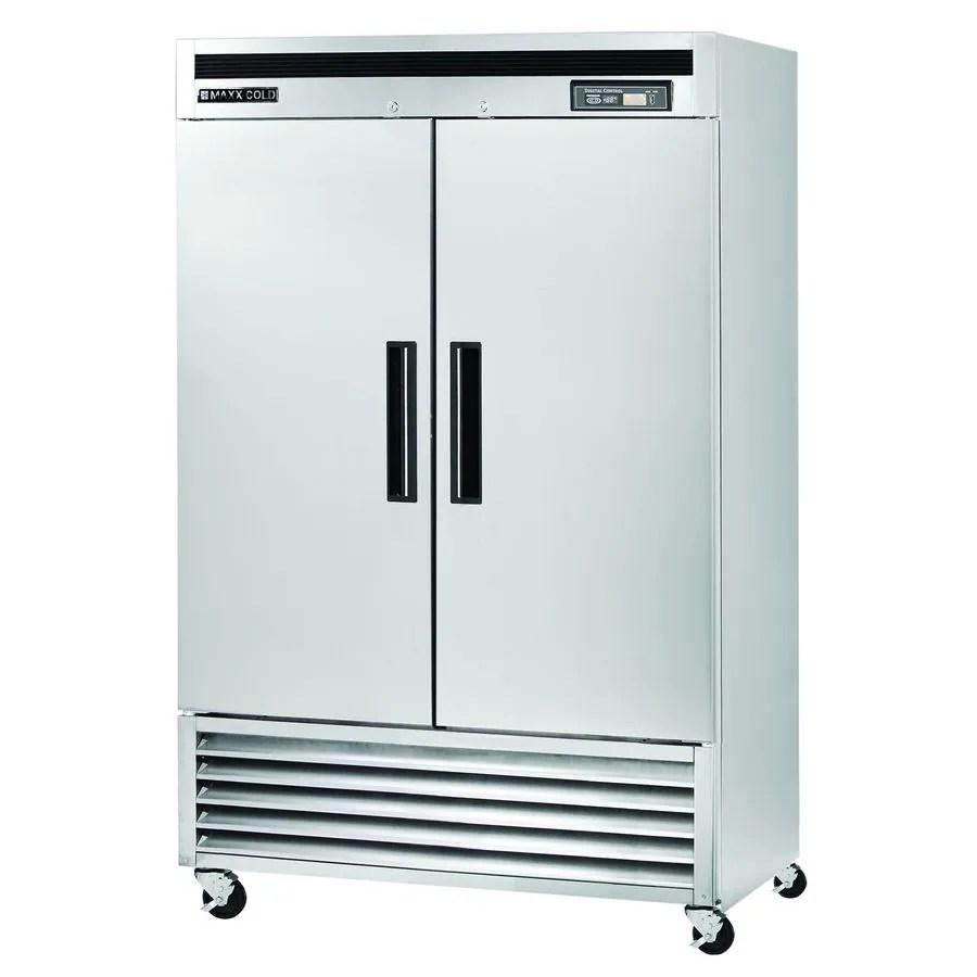 Maxx Cold 49cu ft 2Door ReachIn Commercial Refrigerator