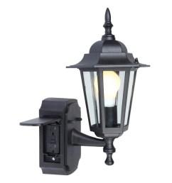 portfolio gfci 15 75 in h black outdoor wall light [ 900 x 900 Pixel ]