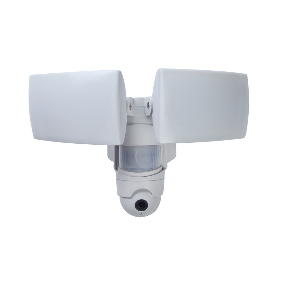 hight resolution of utilitech pro 270 degree 2 head white led motion activated flood light with