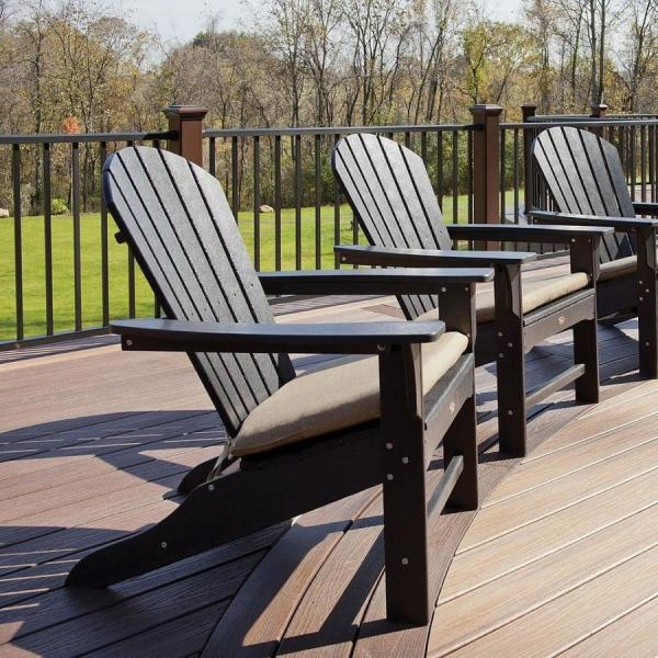 Trex Outdoor Furniture Yacht Club Plastic Adirondack Chair With Slat Seat