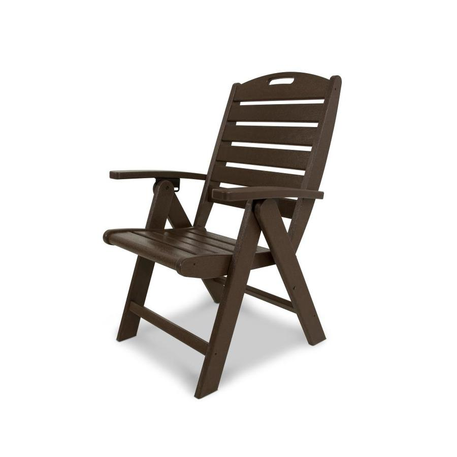reclining club chair swing jeddah shop trex outdoor furniture yacht plastic dining with slat seat at lowes.com