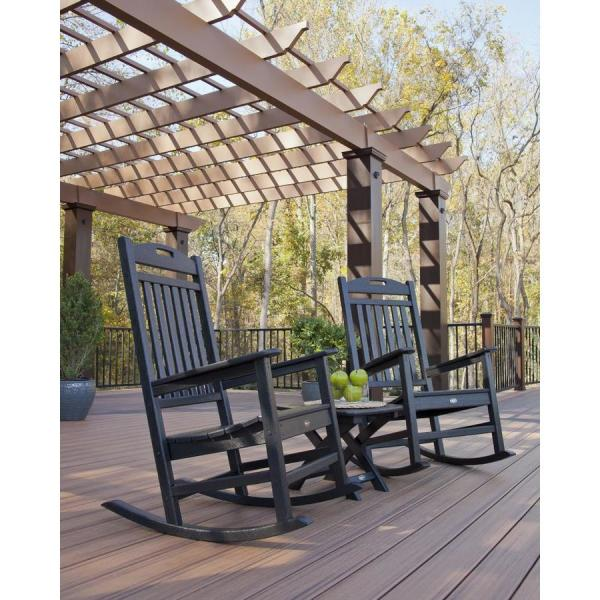 Trex Outdoor Furniture Yacht Club 2-piece Charcoal Black Plastic Bistro Patio Dining Set