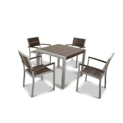 Plastic Outdoor Chairs Lowes Unc Bean Bag Chair Shop Trex Furniture Surf City 5-piece Frame Patio Dining Set At Lowes.com