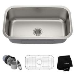 Kraus Kitchen Sinks Benches At Lowes Com Premier Sink 31 5 In X 18 38 Stainless Steel Single Basin
