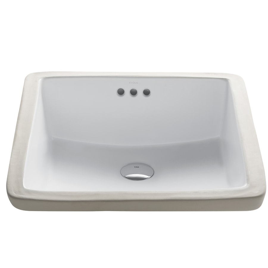 Lowes Undermount Bathroom Sink Kraus Elavo White Ceramic Undermount Square Bathroom Sink With