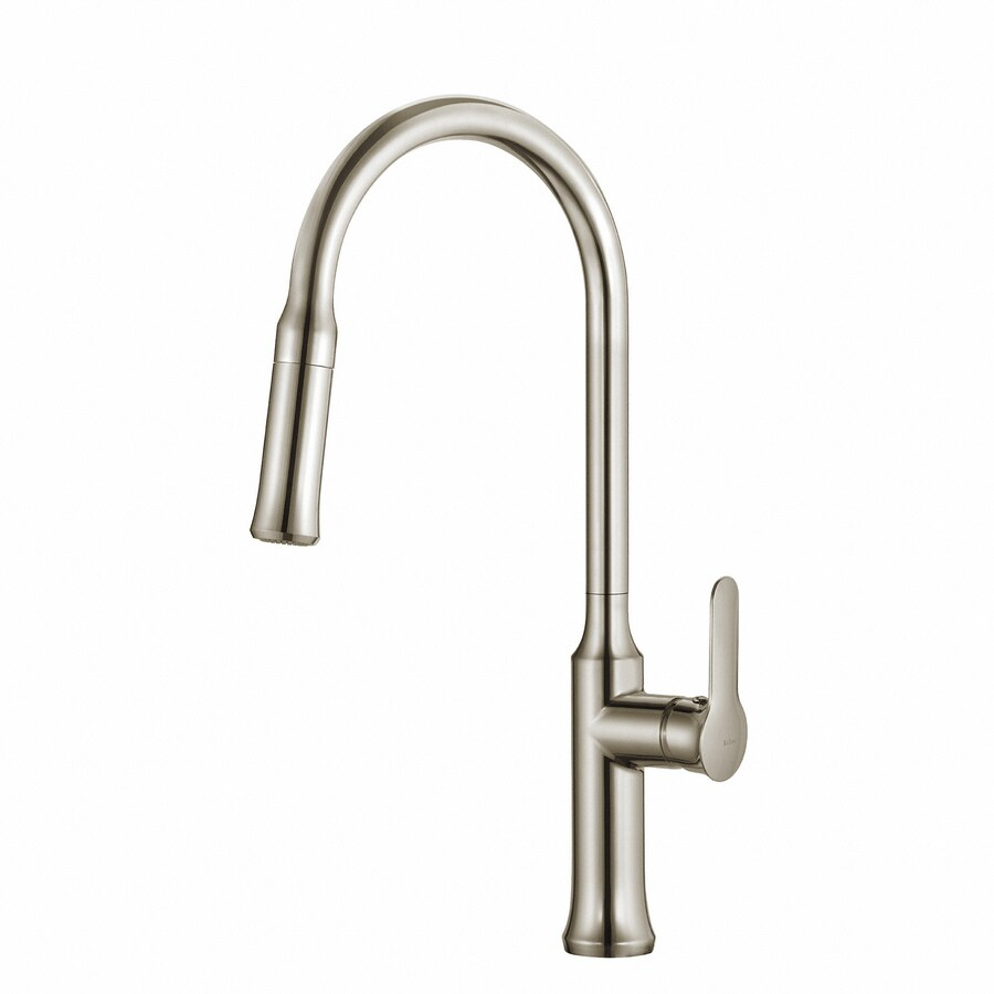 kraus pull down kitchen mixer stainless steel 1 handle deck mount pull down handle kitchen faucet deck plate included