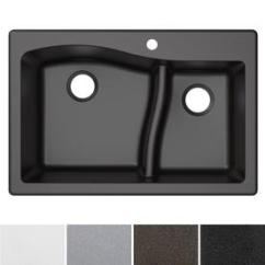 Black Sink Kitchen Cabinets Ft Myers Fl Sinks At Lowes Com Kraus Quarza 33 In X 22 Double Basin Drop