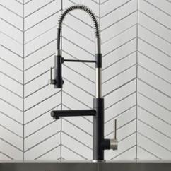 Kraus Kitchen Faucets Tuscan Design Photos At Lowes Com Artec Spot Free Stainless Steel Matte Black 1 Handle Pull Down