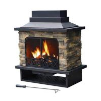 Shop Sunjoy Black Steel Outdoor Wood-Burning Fireplace at ...