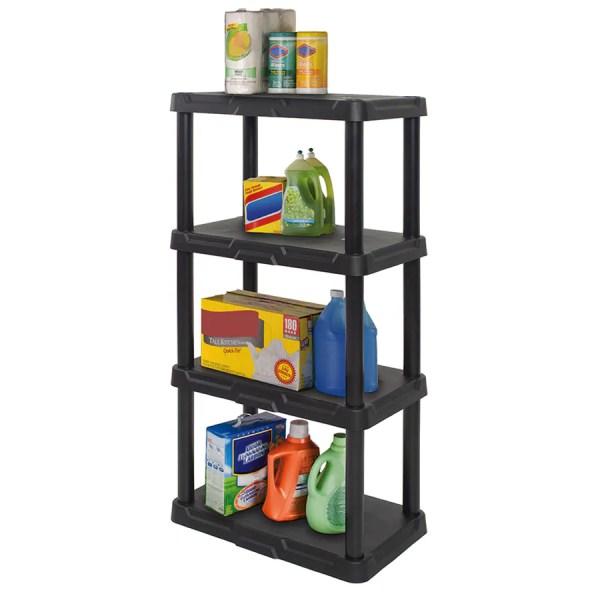 4 5 Tier Plastic Freestanding Shelving Unit Storage Organizing Shelf Garage