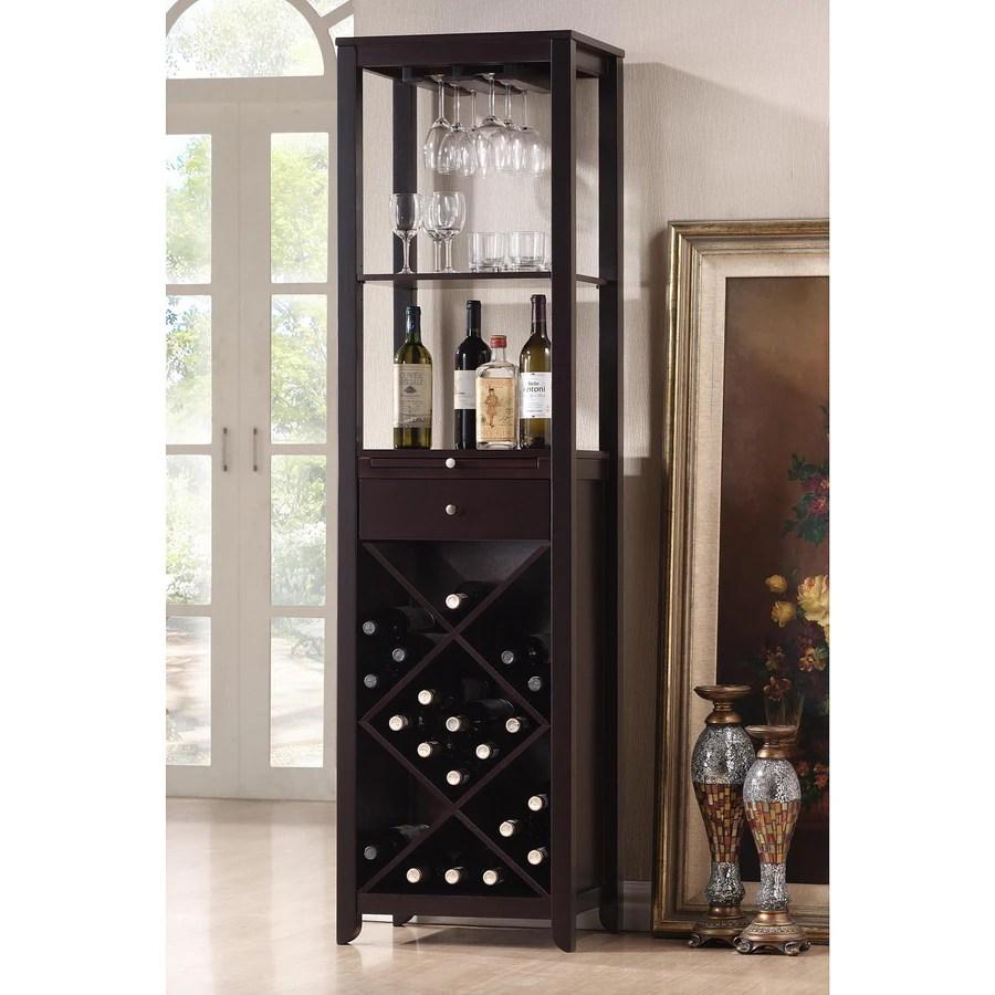 Baxton Studio Austin Brown 20Bottle Wine Cabinet at Lowescom