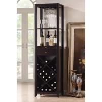 Baxton Studio Austin Brown 20-Bottle Wine Cabinet at Lowes.com