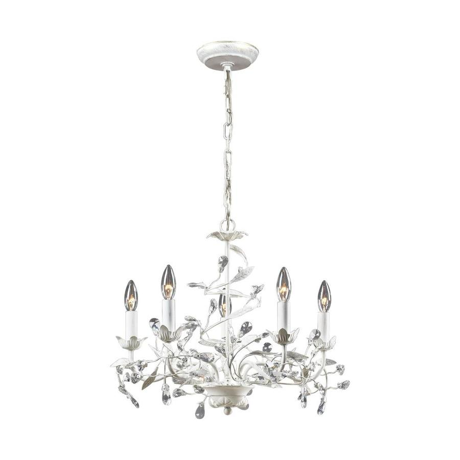 Shop Westmore Lighting Faun 5-Light Antique White Glam