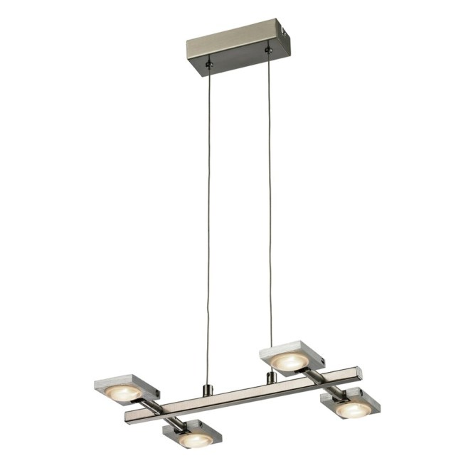 Westmore Lighting Calistoga 14 In 4 Light Brushed Nickel Aluminum Abstract Mini