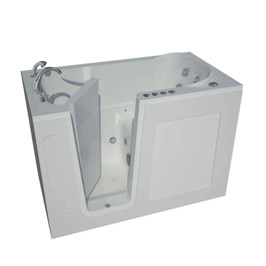 Shop Endurance 54 In White Acrylic Walk In Whirlpool Tub