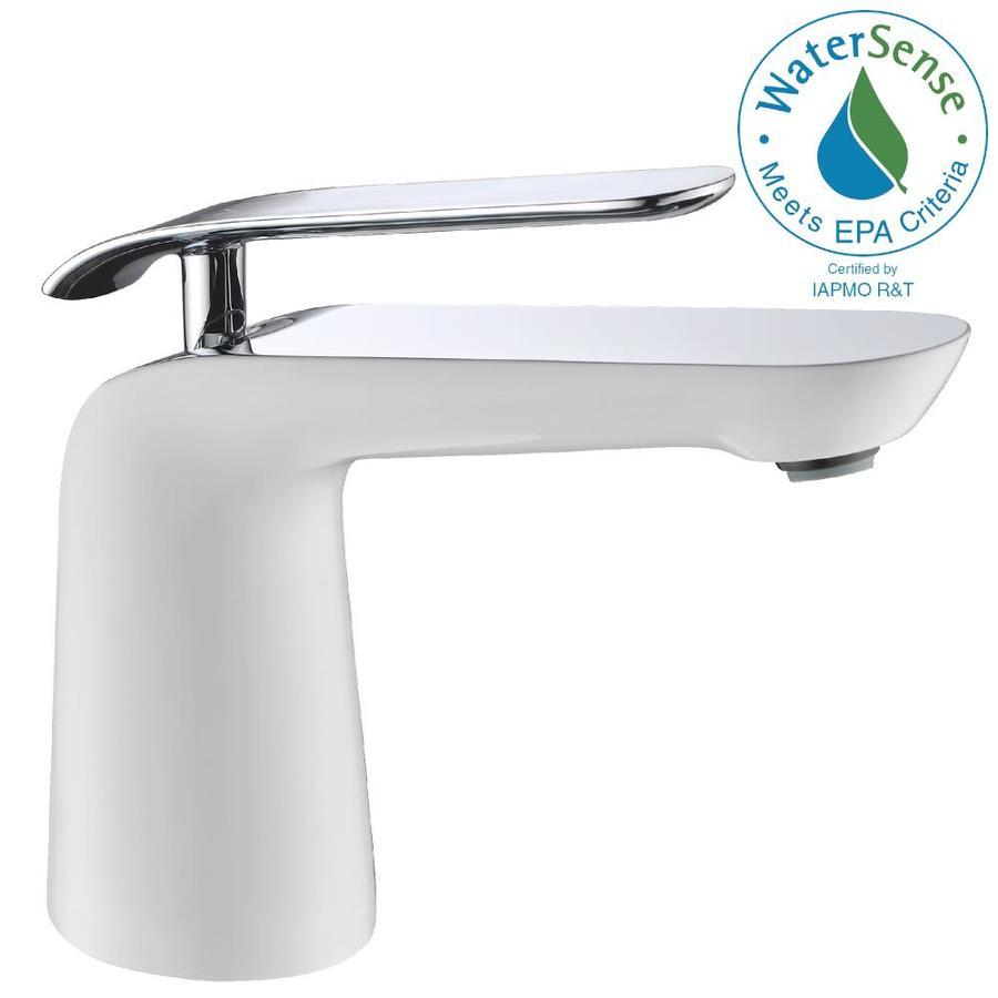 anzzi etude polished chrome 1 handle single hole watersense bathroom sink faucet