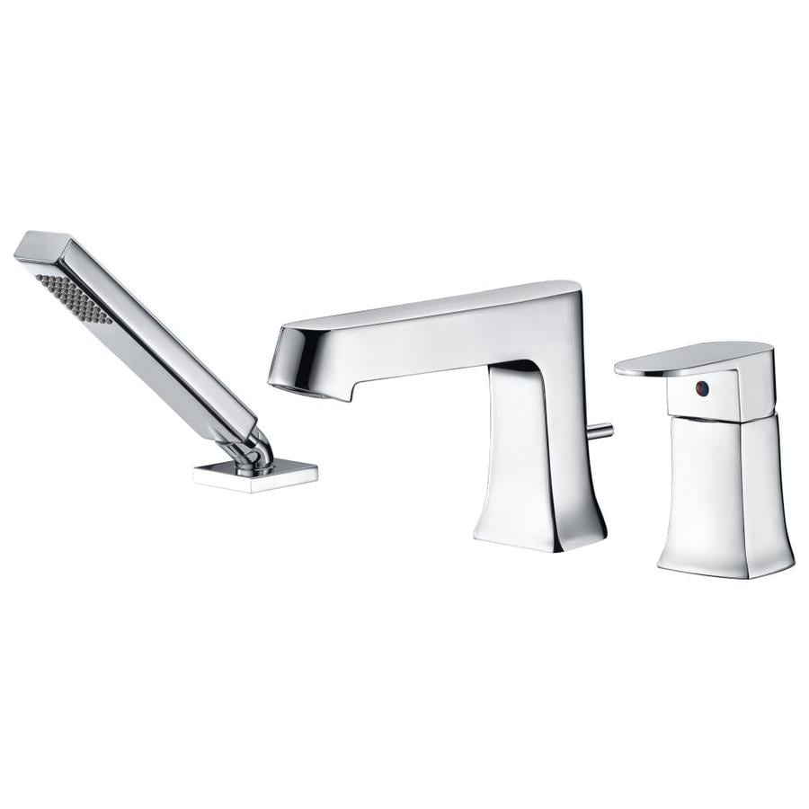 ANZZI Rin Series Polished Chrome 1 Handle Deck Mount Roman