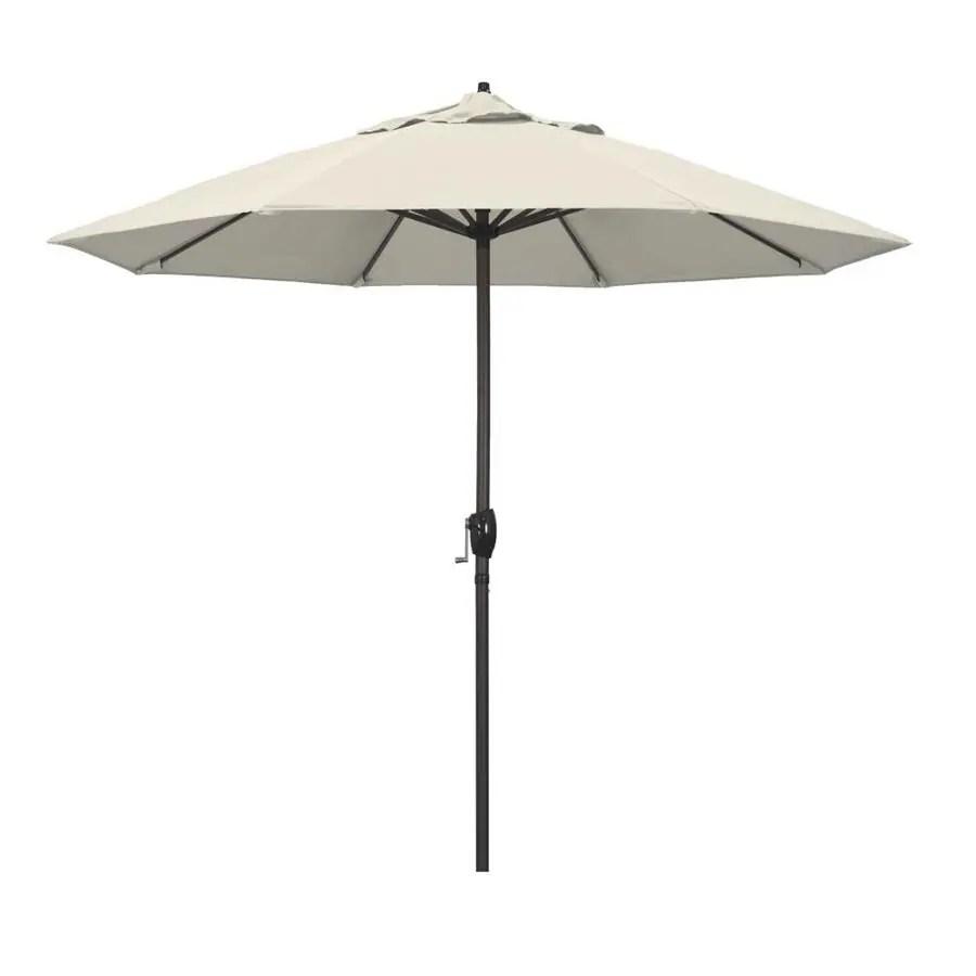 california umbrella 9 ft beige no tilt market patio umbrella
