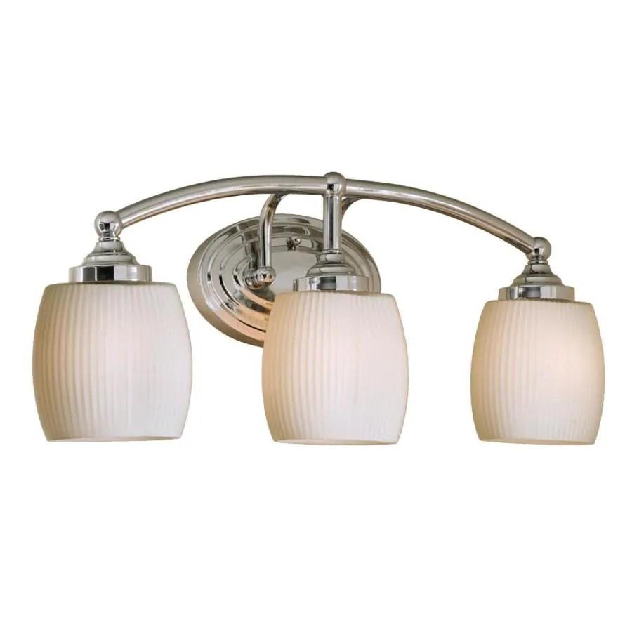Shop Style Selections 3Light Calpin Chrome Bathroom Vanity Light at Lowescom
