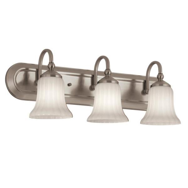 Portfolio Shaker Park 3-light 24.02-in Brushed Nickel Oval Vanity Light Bar