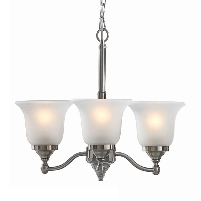 Portfolio Roseall 19 2 In 3 Light Brushed Nickel Etched Glass Shaded Chandelier
