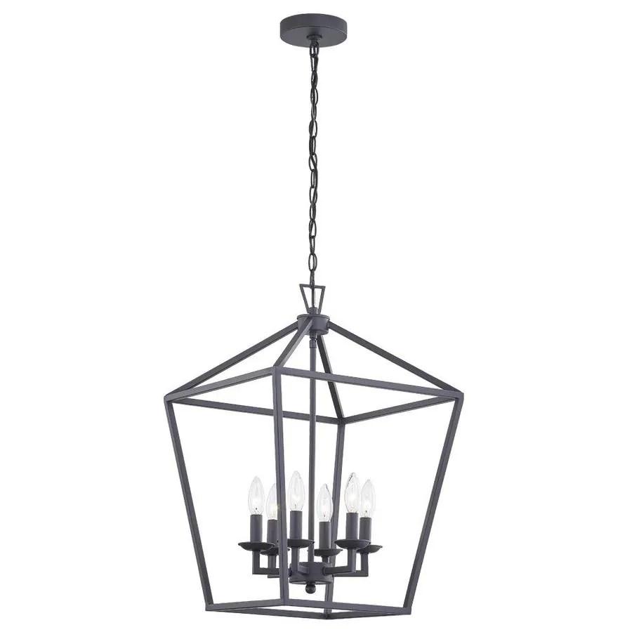 black farmhouse lantern pendant light