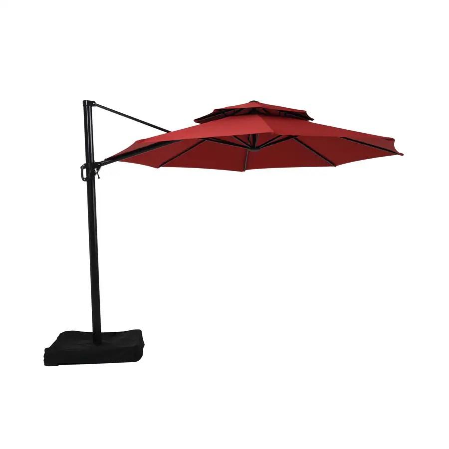 Shop Garden Treasures Red Offset Patio Umbrella Common