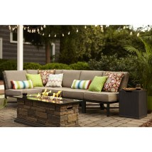 Garden Treasures Palm City 5-piece Black Steel Patio