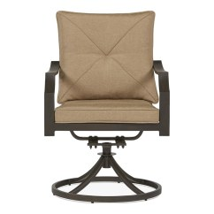 Patio Swivel Chair Seat Post Bushing Egg Desk Cheap Furniture At Lowes Com Garden Treasures Vinehaven Set Of 2 Steel Dining With Tan Cushion