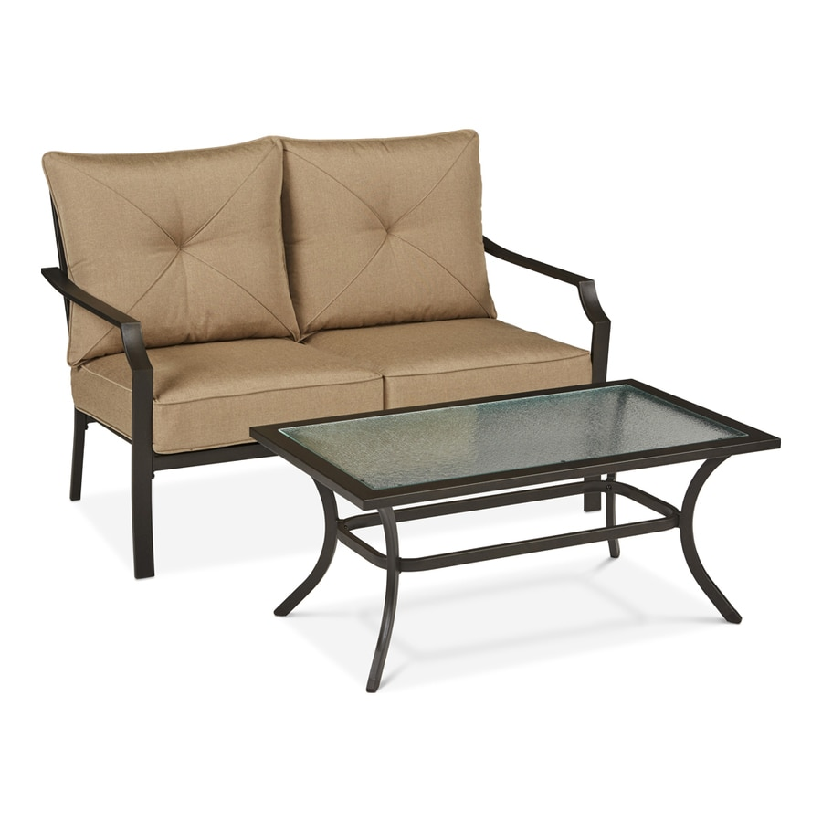palermo rattan effect corner sofa set cover jcpenney table patio conversation sets at lowes com garden treasures vinehaven 2 piece steel frame with cushions