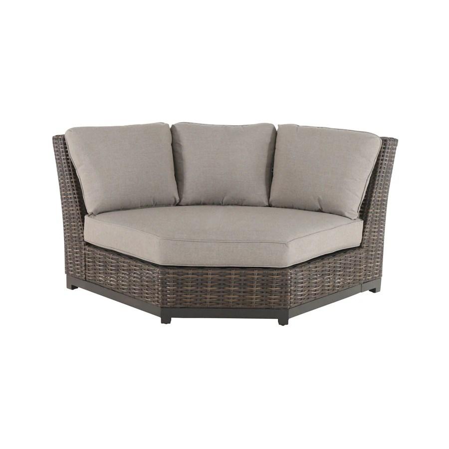 Allen  roth Altadena Wicker Steel Conversation Chair with
