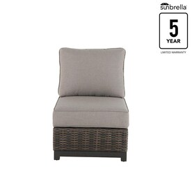 where to buy wicker chairs swivel chair assembly patio at lowes com allen roth altadena steel conversation with tan sunbrella cushion